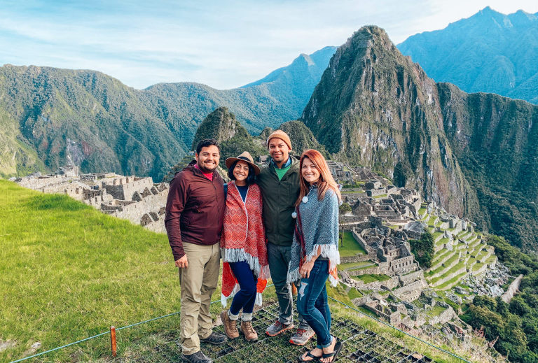 Standing above Machu Picchu with Ashley and Chris. So glad we didn't miss this view!